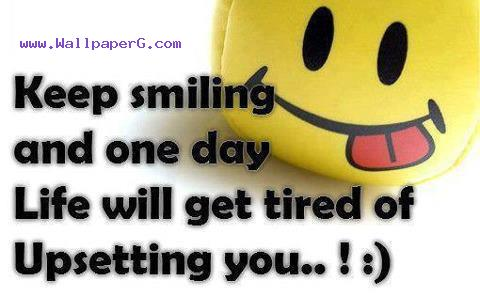 Sad Baby Girl Wallpaper With Quotes Download Keep Smiling Saying Quote Wallpapers For Your