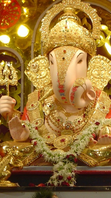 Sweet Cute Wallpapers 240x320 Download Ganpati Bapa Moriya Spiritual Wallpaper For