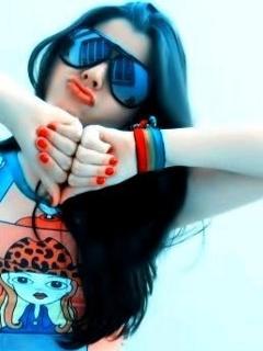 Cute Attitude Girl Hd Wallpaper Download Stylish Girl Love Hand Flirty Girl With