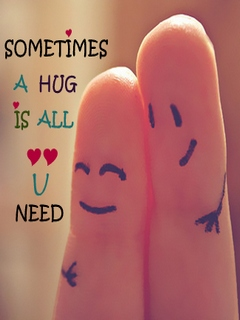 Hd Wallpapers For Mobile Free Download 480x800 Download Sometime All You Need Is Hug Quote Image Heart