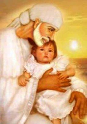 Sai Baba Animated Wallpaper For Mobile Download Sai With A Small Baby Spiritual Wallpaper For