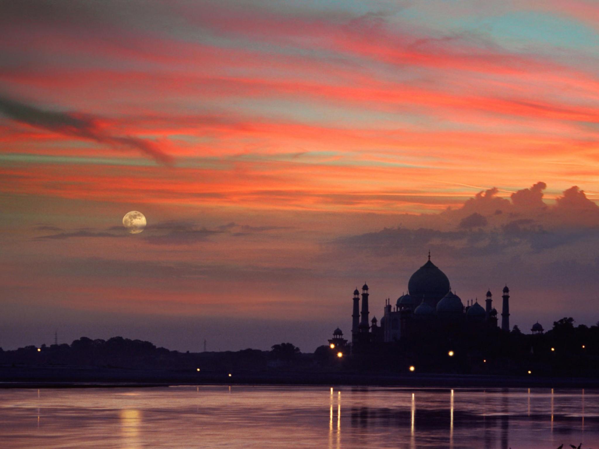 Very Cute Wallpapers For Facebook Taj Mahal Sunset Agra India Wallpaper Free Downloads