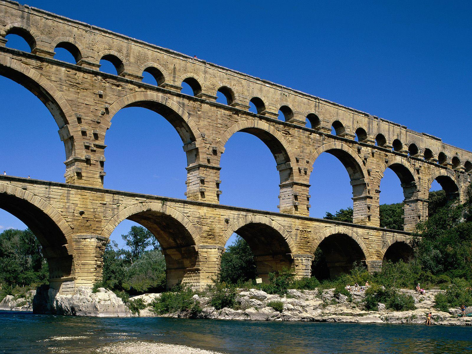 3d Fruit Wallpaper Pont Du Gard Near Avignon France Wallpapergeeks Com