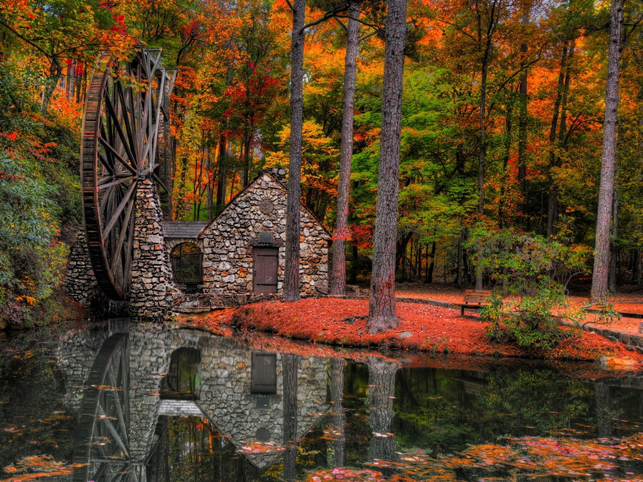 Free Fall Desktop Wallpaper For Mac Autumn Water Mill Wallpaper Free Autumn Downloads