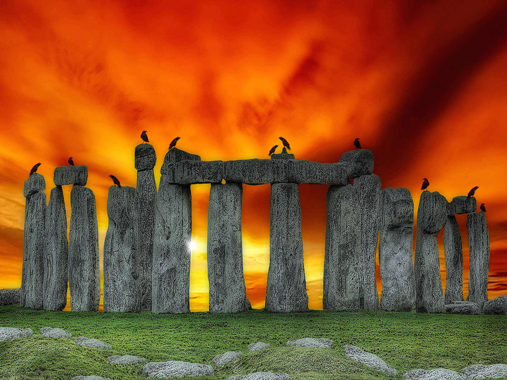 3d Fish Wallpaper Hd Stonehenge Prehistoric Monument Wallpaper Free Hd