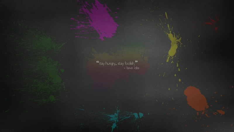 One Piece Desktop Wallpaper Quote Abstract Minimalistic Apple Inc Quotes Paint Rainbows