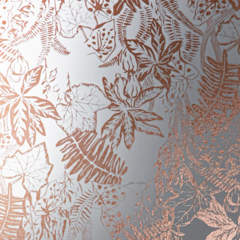 Black And White Gothic Wallpaper Erica Wakerly Hothouse Copper Rose White Wallpaper