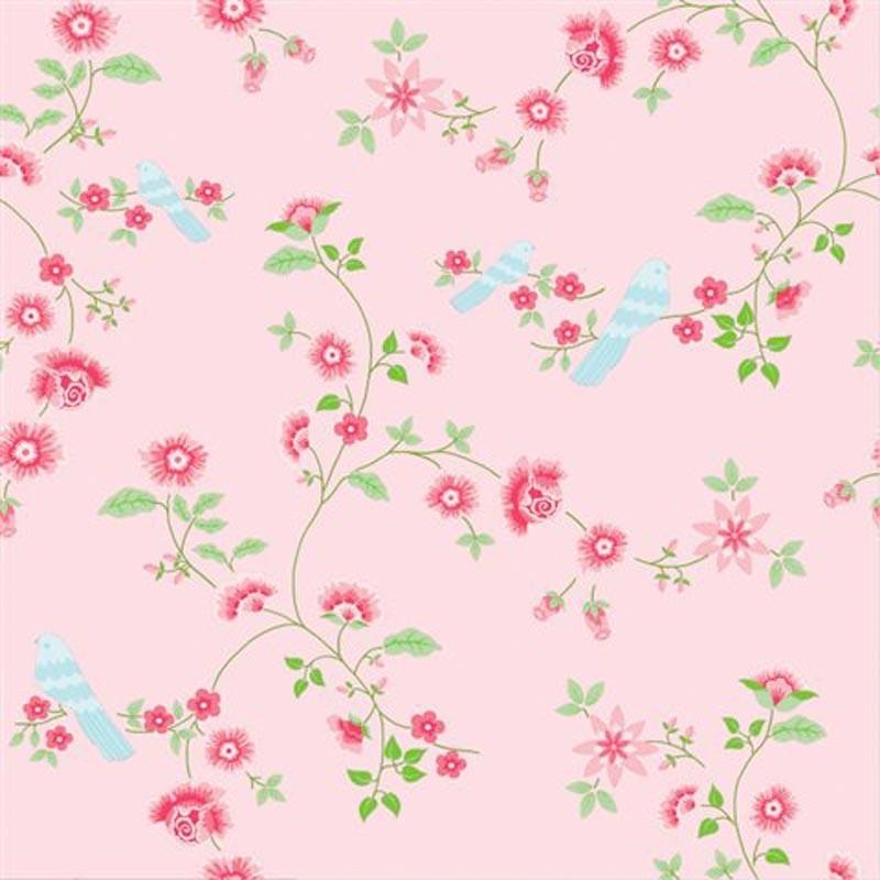 Wallpaper Cath Kidston Iphone Bird Branches Pink 2000111