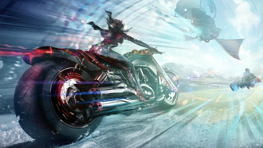 1600x2560 Car Wallpaper Wallpaper Anime Girl Futuristic Motorcycle Sci Fi