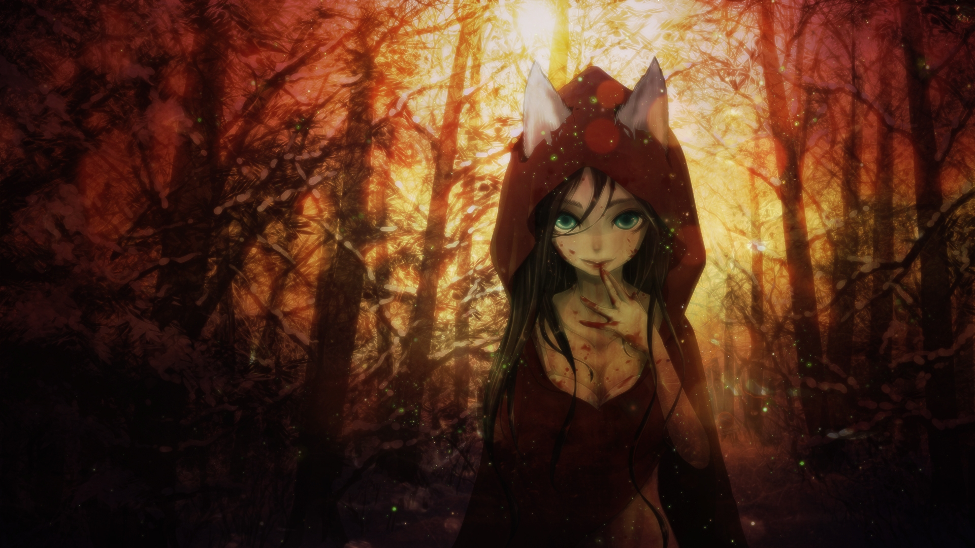 Wallpaper Hd Cute For Men Download 1920x1080 Anime Girl Fantasy Animal Ears