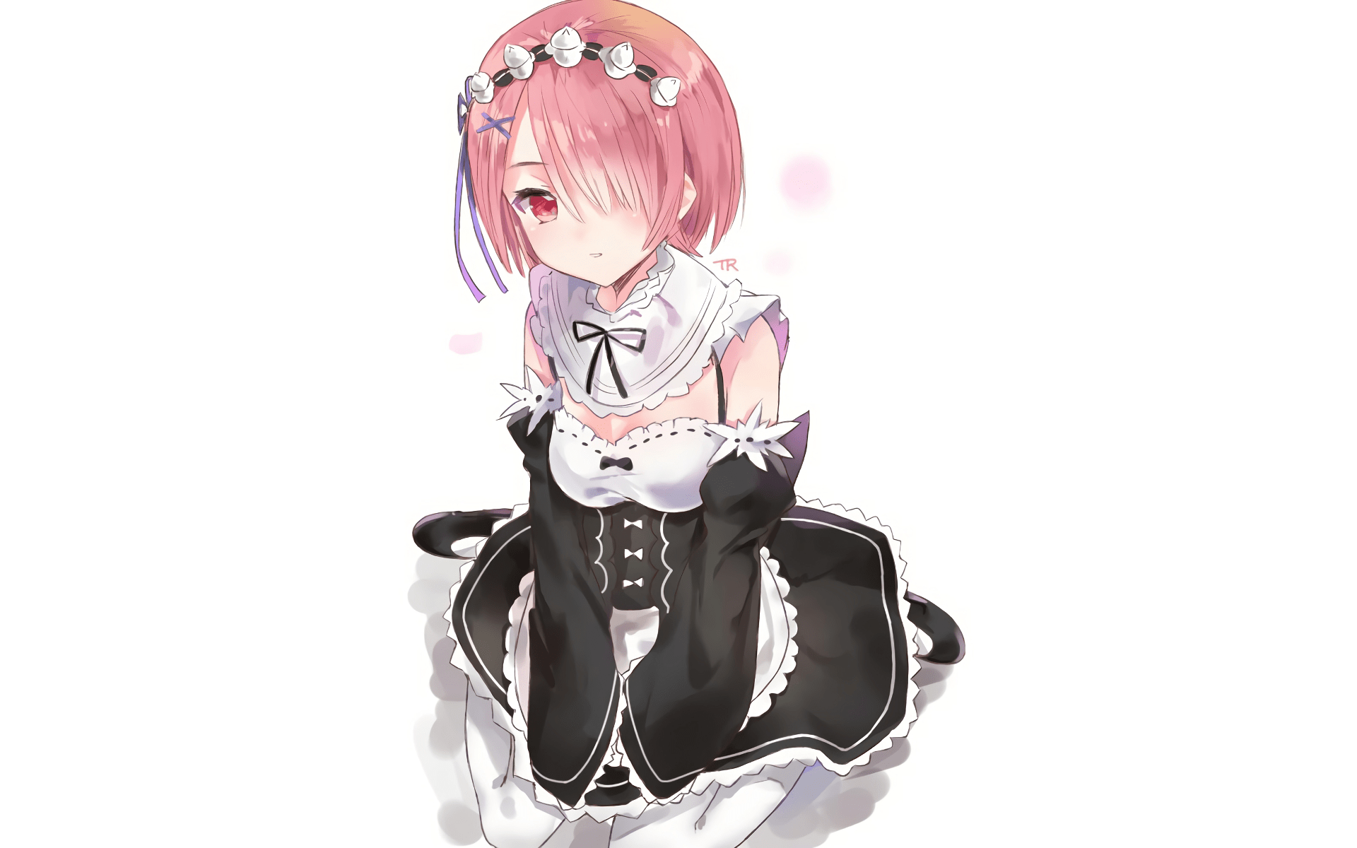 Cute Pink Wallpaper For Phone Download 1920x1200 Ram Re Zero Pink Hair Maid Clothes
