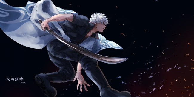Samsung Galaxy S8 Wallpaper Hd Wallpaper Sakata Gintoki Gintama Sword Profile View