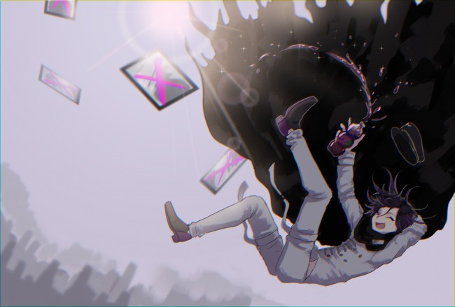 Wallpaper Desktop Girl Falling Wallpaper Danganronpa V3 Ouma Kokichi Falling Down