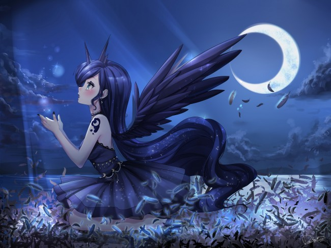 Equestria Girls Android Wallpaper Wallpaper Princess Luna My Little Pony Anime Style