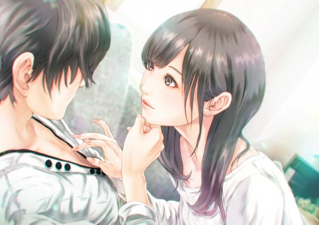 Cute Anime Couple Wallpaper Hd For Android Wallpaper Anime Couple Romance Semi Realistic Cute