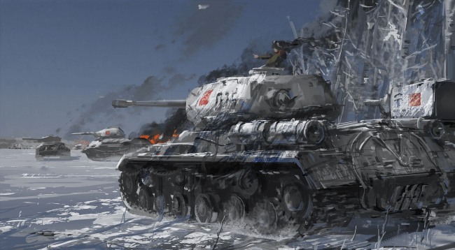 Cute Anime Couple Wallpaper Hd For Android Wallpaper Girls Und Panzer Battle Kv 2 Tank Painting