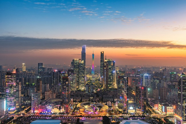 Full Hd Wallpaper For 5 Inch Screen Wallpaper China Guangzhou Cityscape Skyscrapers Sky