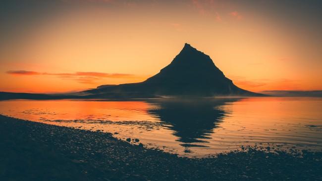 Wallpaper Mountain, Reflection, Sunset, Scenic - WallpaperMaiden