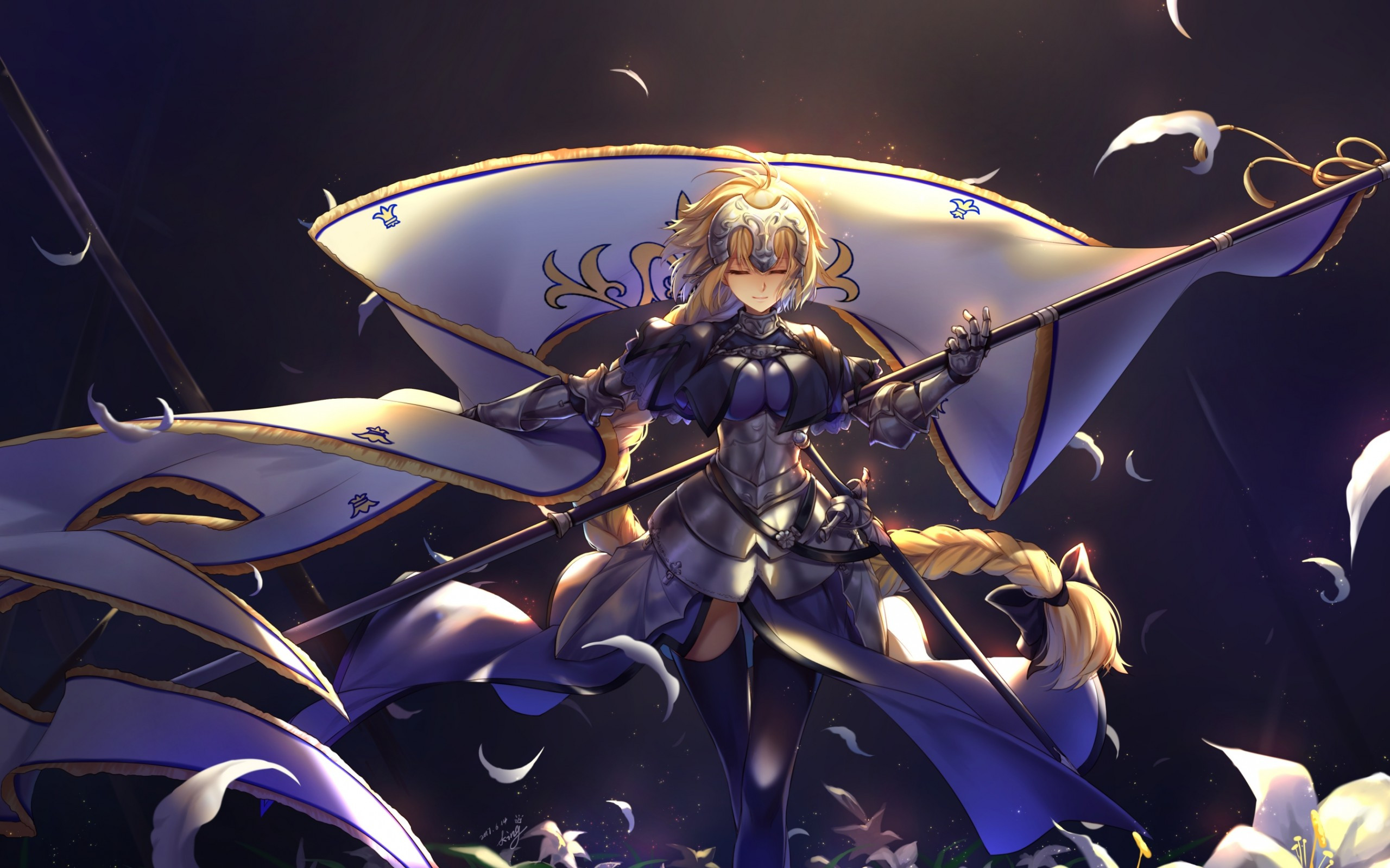 3d Wallpaper For Macbook Pro 13 Download 2560x1600 Jeanne D Arc Fate Apocrypha Fate