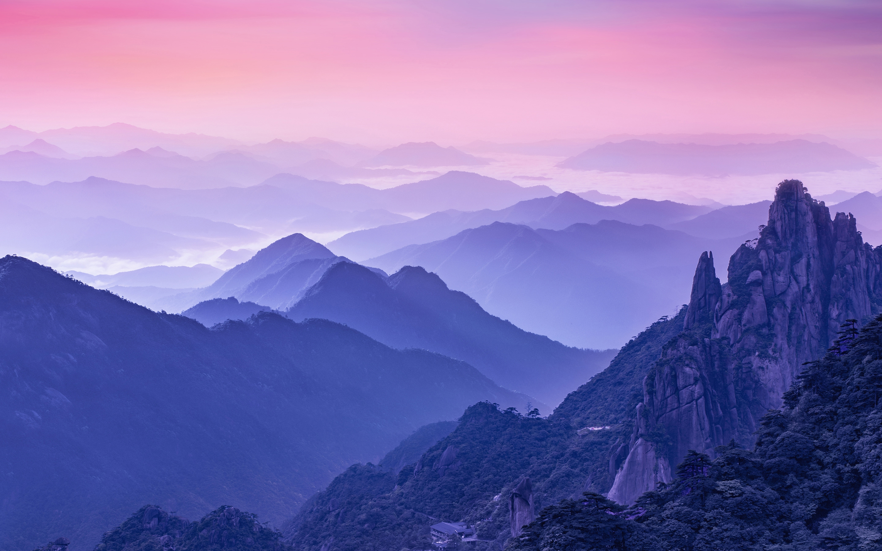 Wallpaper Smartphone Anime Download 2256x1504 Mountains Foggy Cliff Sky Wallpapers