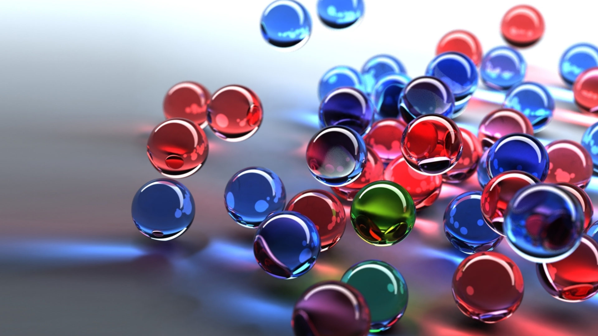 Rainbow Wallpaper Iphone X 3d Glass Balls Red Blue Green Hd Wallpaper 2880x1800