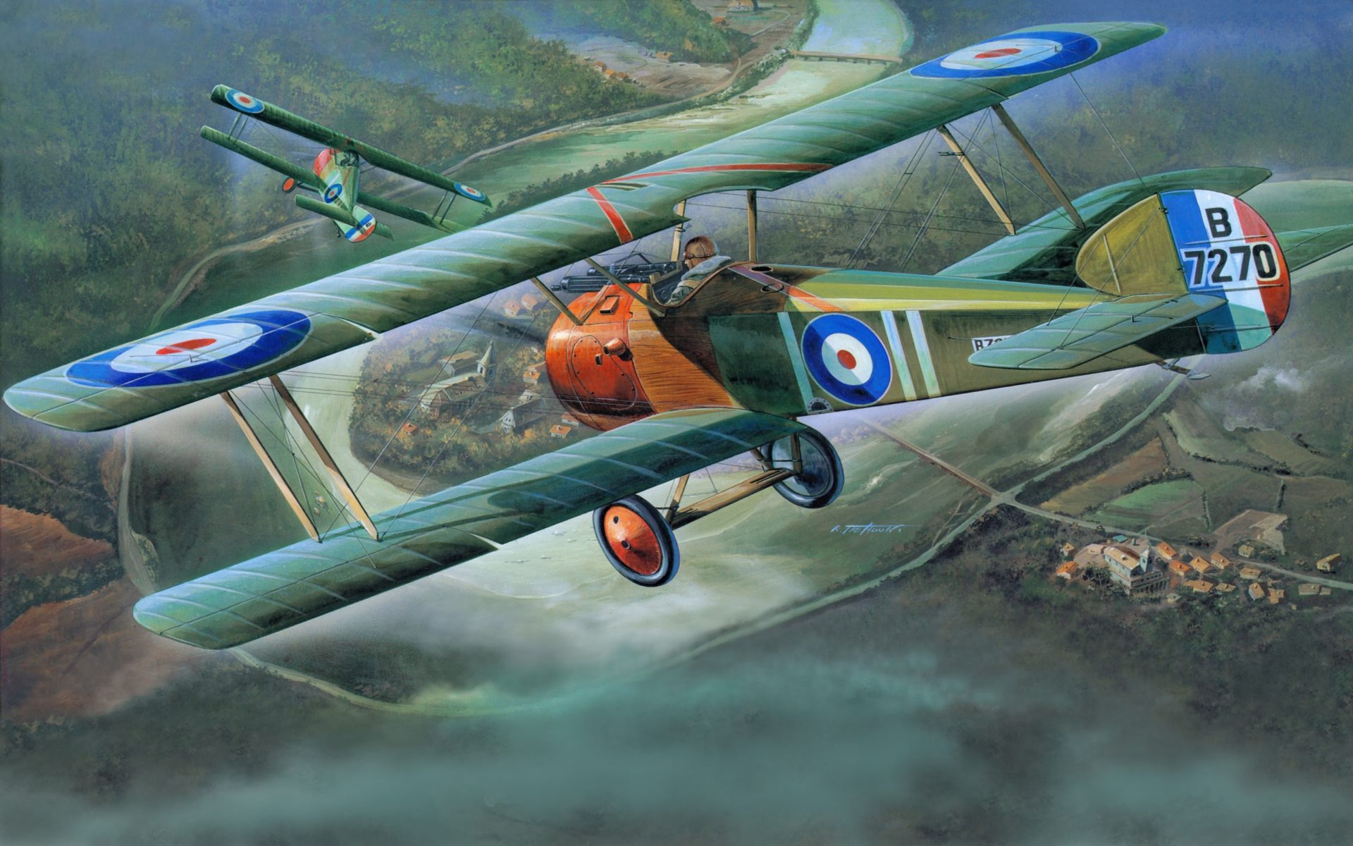 Best Iphone X Wallpaper Live Airplane Painting Art Retro Sopwith Camel F 1 Flight