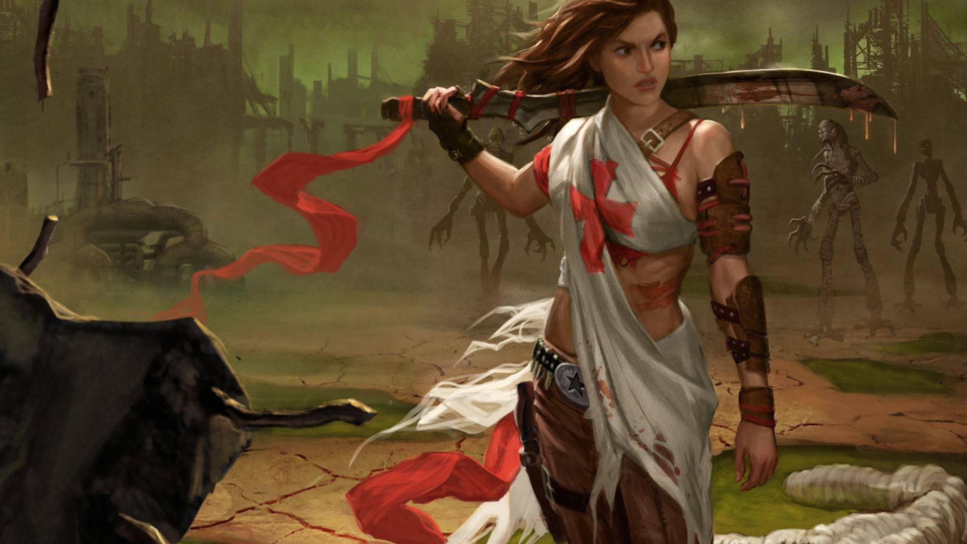 Fighter Girl Wallpaper Deadlands Hell On Earth Reloaded 2d Post Apocalyptic