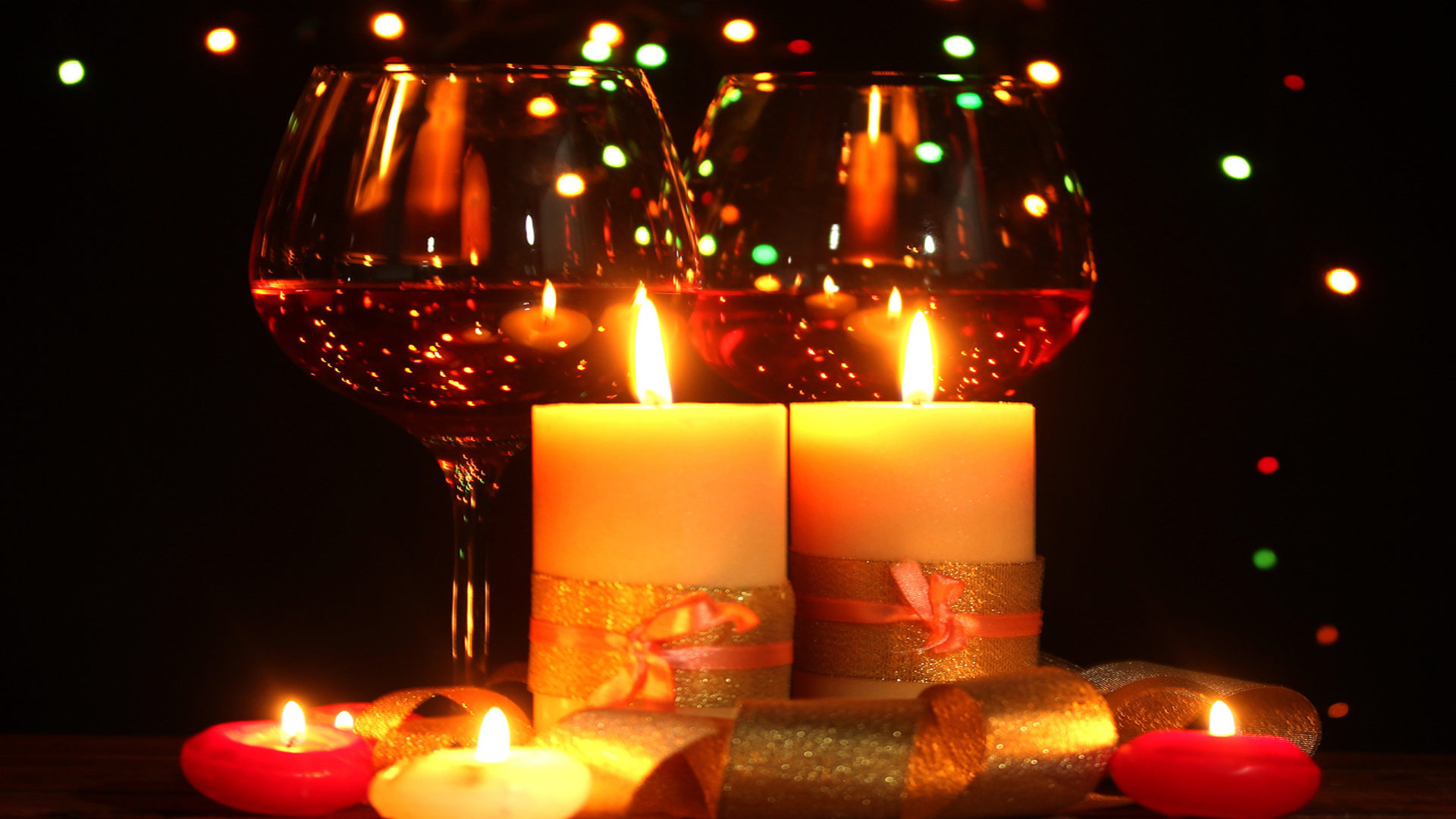 Valentine Wallpaper Iphone X Glasses Wine Light Candle 0876 Wallpapers13 Com