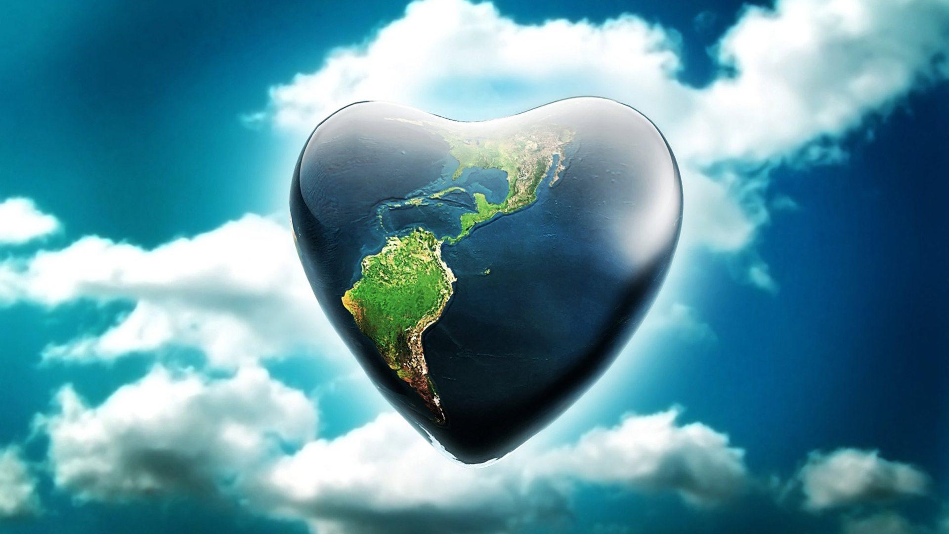 Ipad Air 2 Cute Wallpaper Heart Shaped Earth Artistic Wallpaper 12560x1600