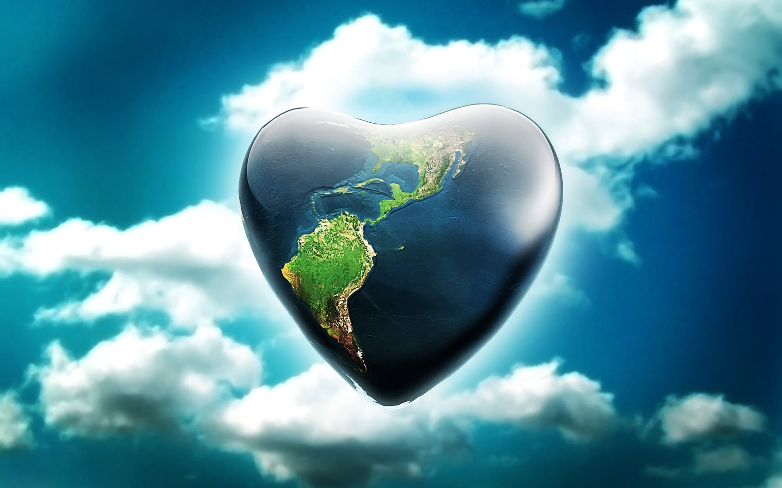 Peaceful Quotes Iphone Wallpaper Heart Shaped Earth Artistic Wallpaper 12560x1600