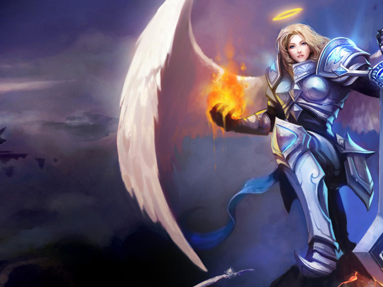 Girl Boss Wallpaper Iphone Kayle Angel Magic Heroes League Of Legends Desktop Hd