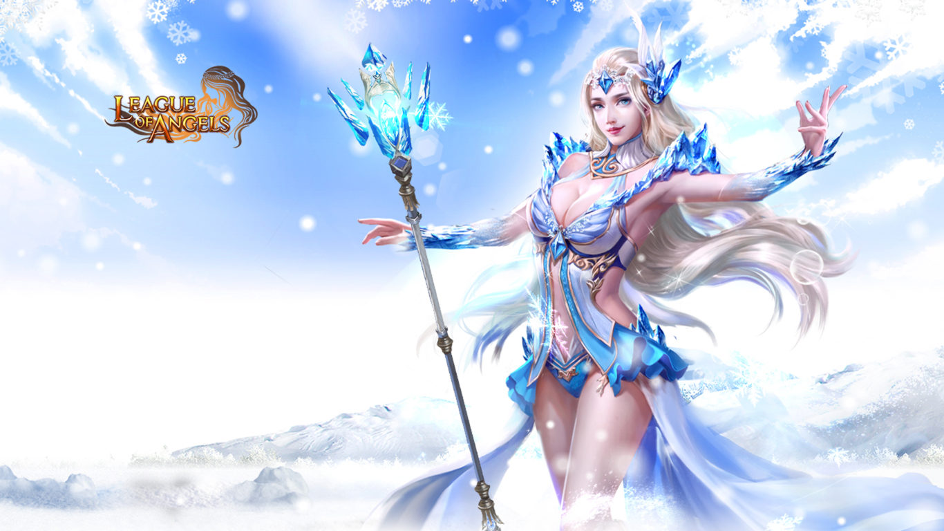 3d Cartoon Wallpapers Free Download League Of Angels Noelle Fantasy Angel Warrior League