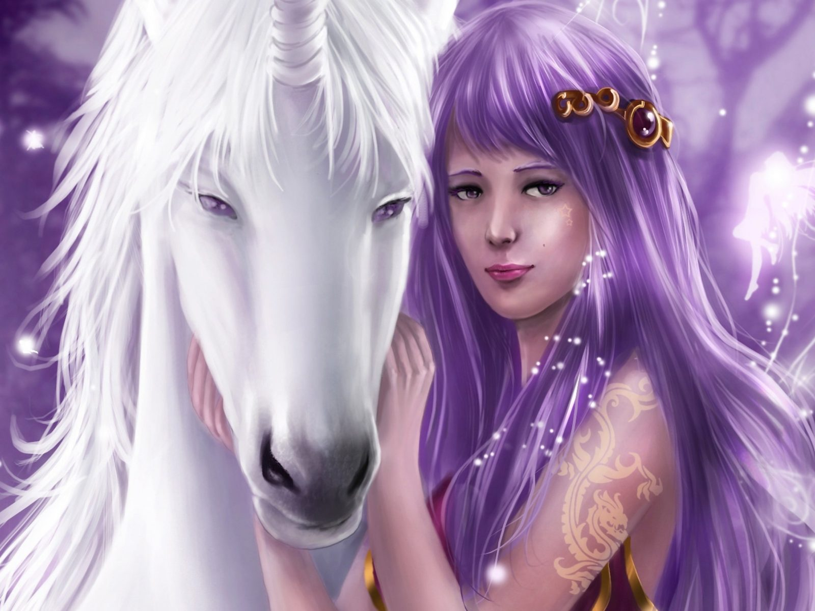 Wide Cars Wallpapers Hd 1920x1200 Pictures Girl Unicorn Horse White 2560x1600