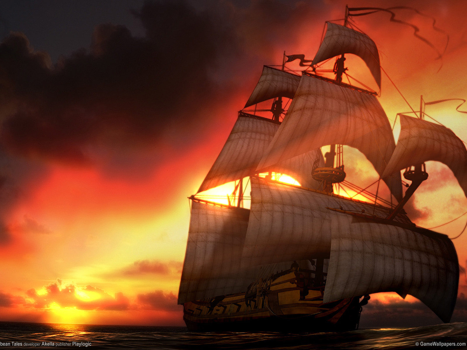 New Hd Wallpapers For Pc Free Download Pirate Ship Desktop Wallpaperwallpaper Pirates Caribbean