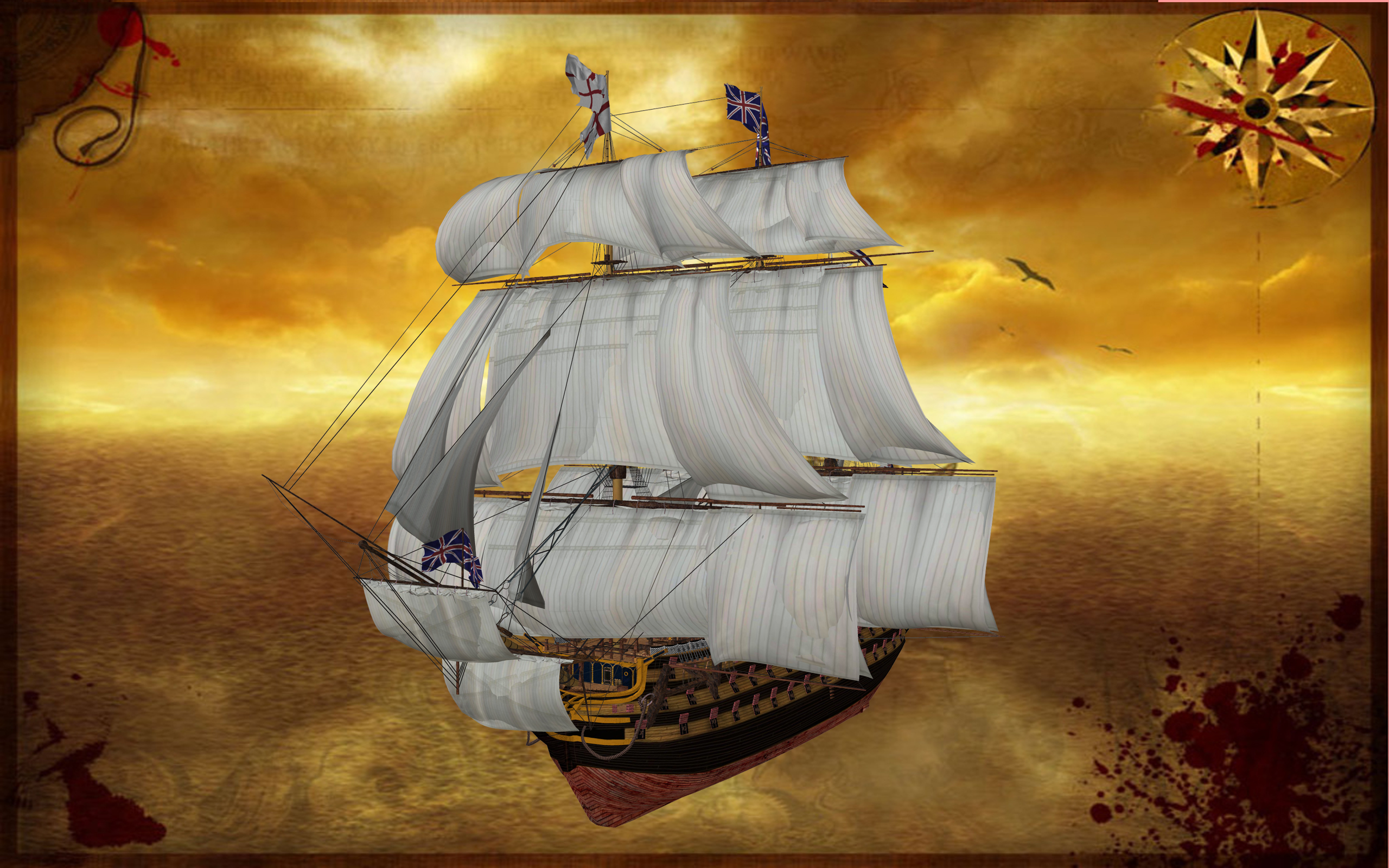 3d Cartoon Wallpapers Free Download Pirate Ship Free Wallpaper Christmas 07 Wallpapers13 Com