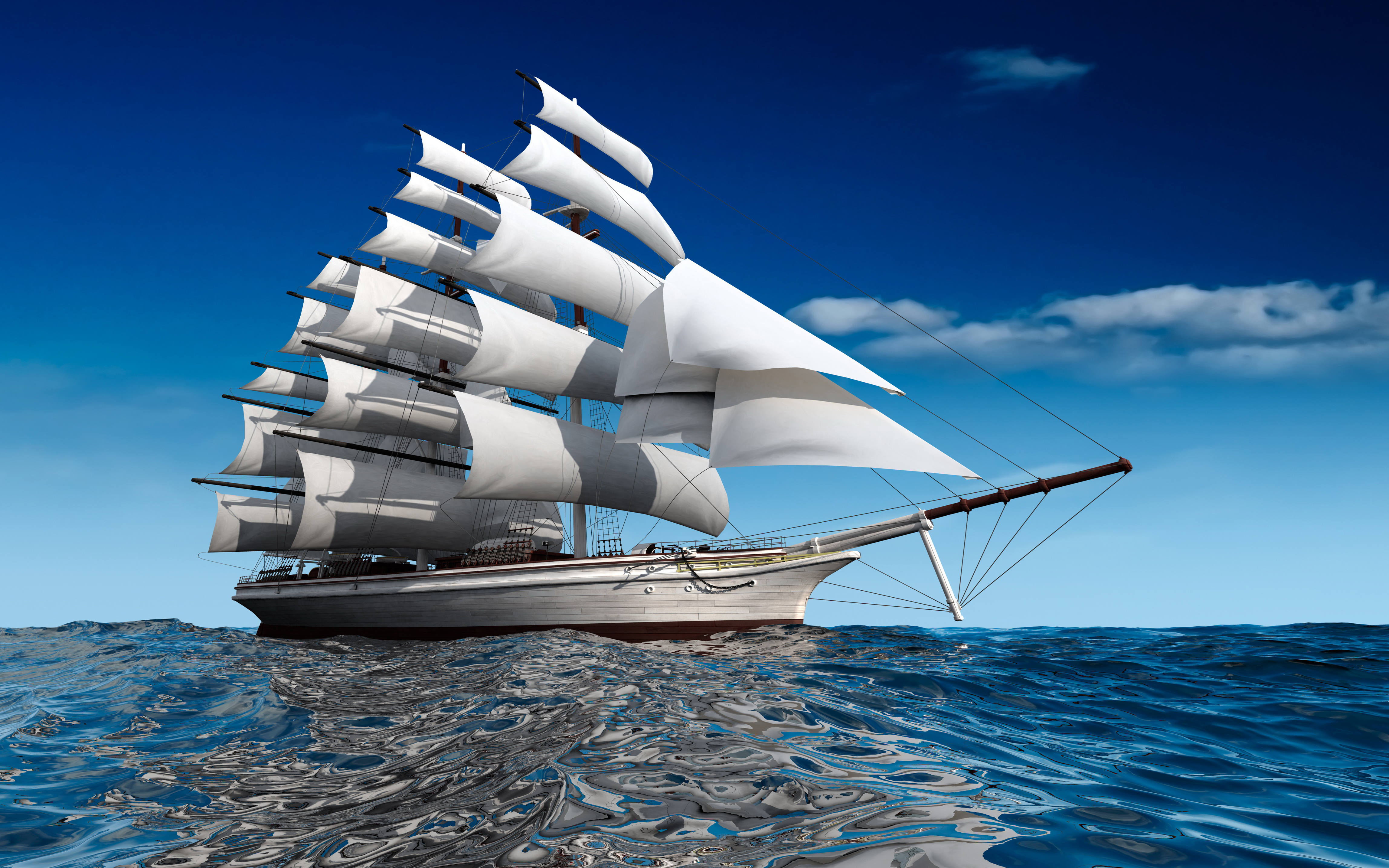 3d Ghost Wallpapers Free Ships Sailing Sea Miscellaneous 3d Graphics Wallpapers And