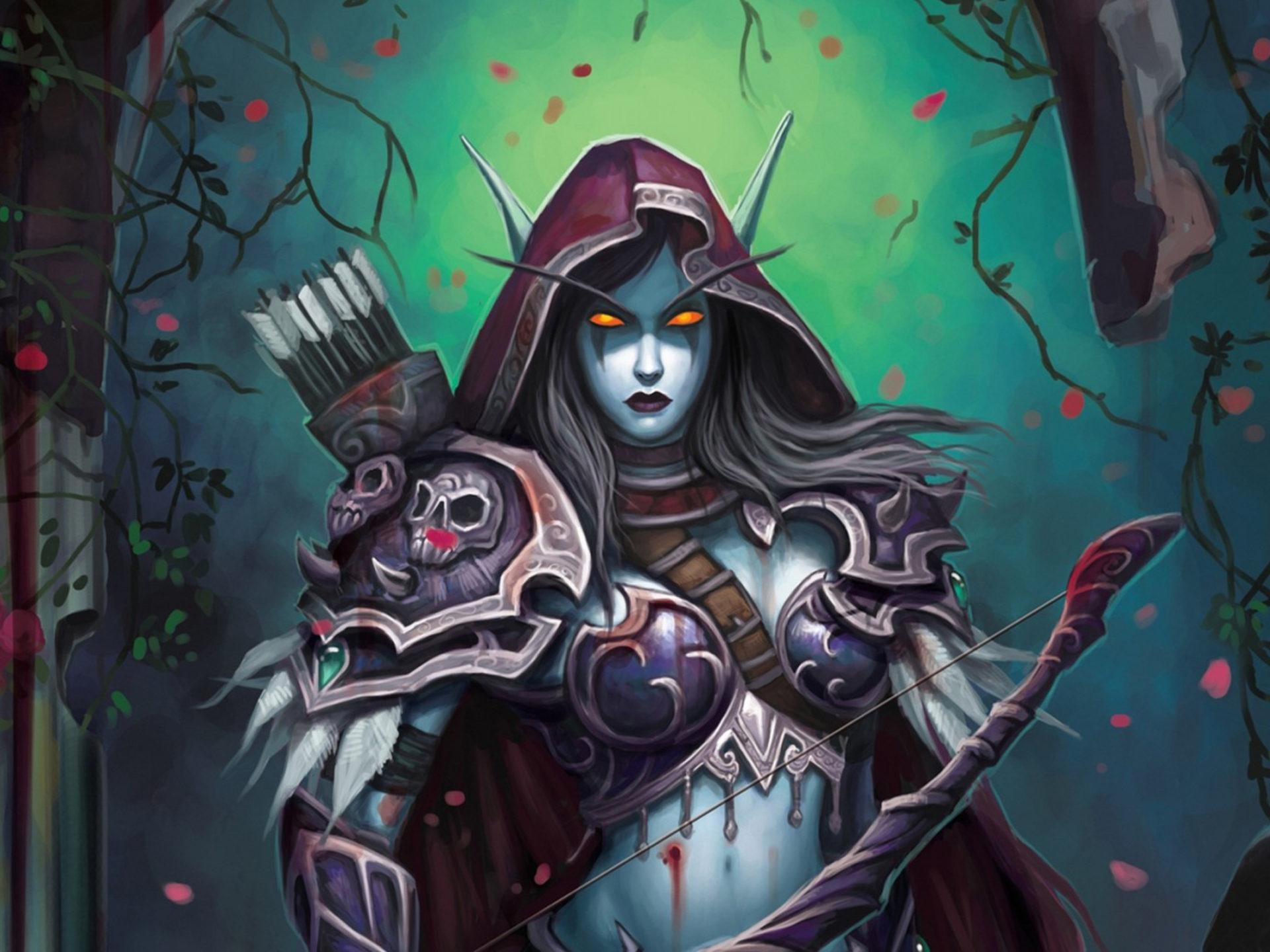 Hunter X Hunter Iphone Wallpaper World Of Warcraft Pc Game Wow Elf Lady Sylvanas Windrunner