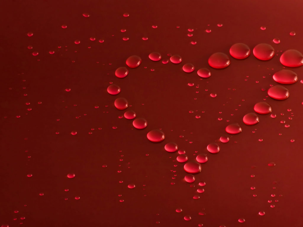 Girl Kissing A Other Girl Wallpaper Red Water Drops Heart Wallpaper Wallpapers13 Com