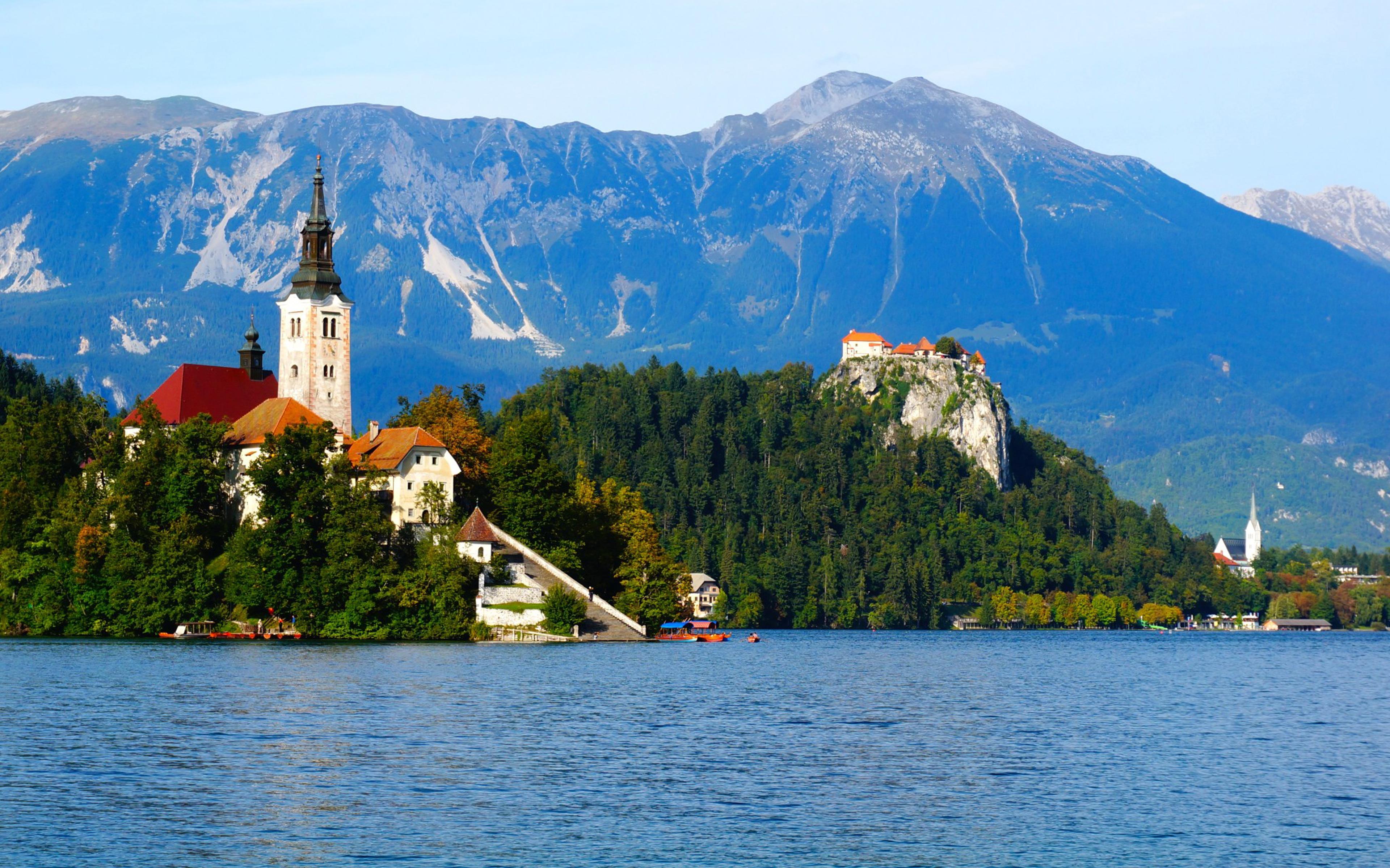 Spring Wallpaper Iphone 4 Lake Bled Slovenia Wallpaper Hd 0974 Wallpapers13 Com