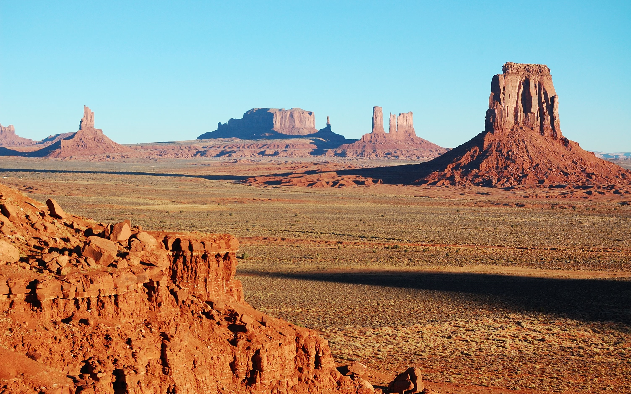 Fall Mountain Desktop Wallpaper Monument Valley Panorama Navajo Nation 4352379