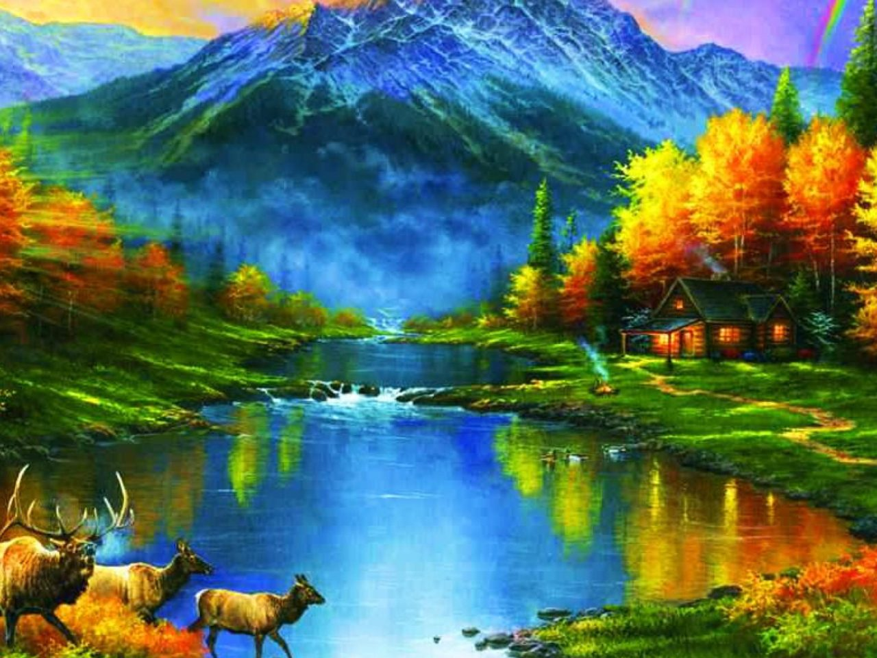 Fall Pc Wallpaper Mountains At Fall Trees Leaves Lakes Colors Ultra Hd