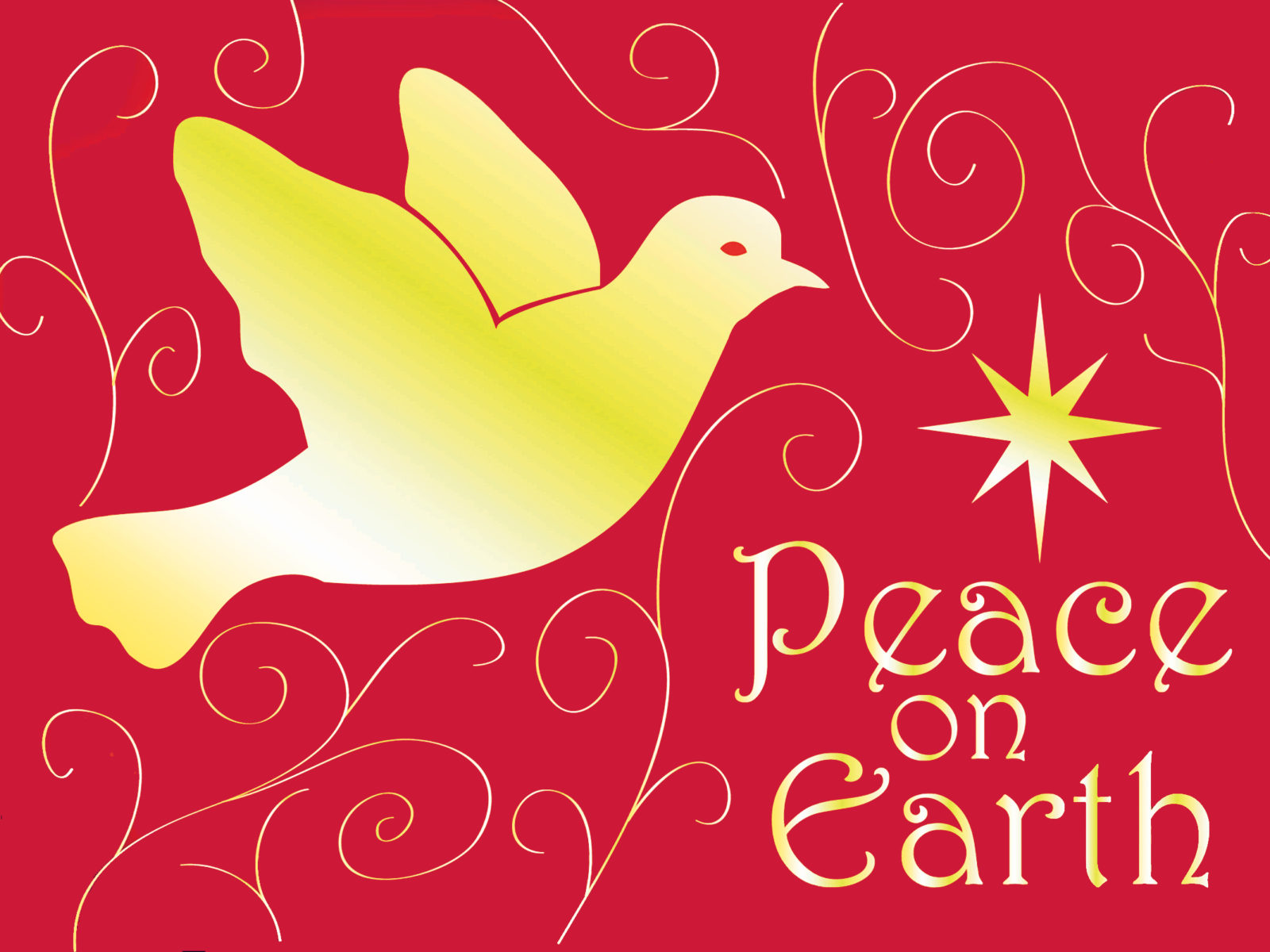 Love Girl Boy Wallpaper Peace Dove Christmas Peace On Earth Christmas Card 077