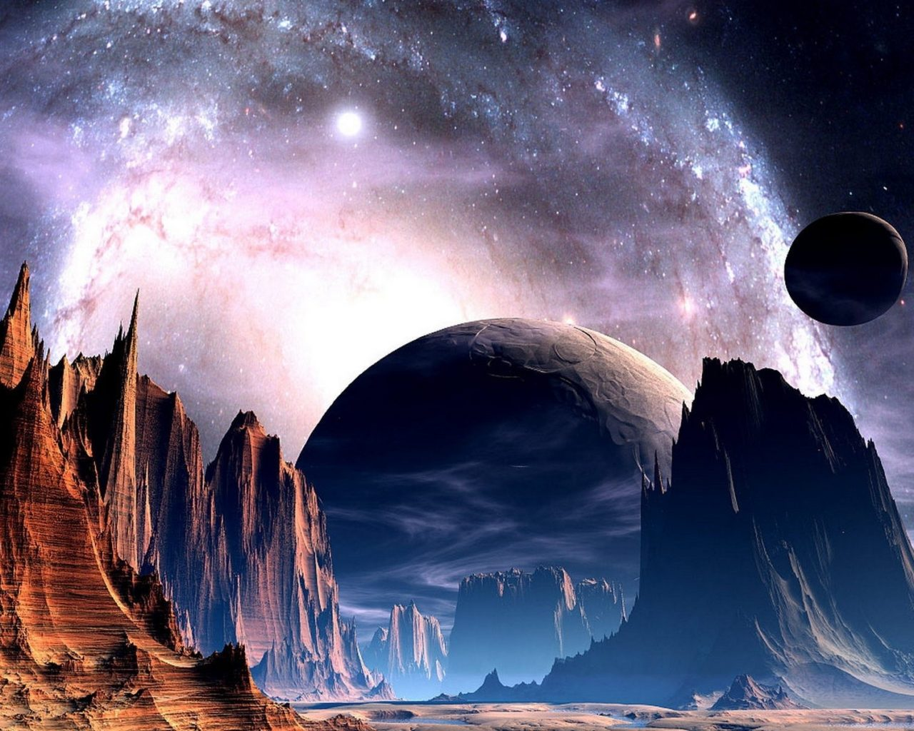 Alien Desktop Wallpaper Hd Sci Fi Science Fiction Planets Alien Sky Stars Nebula