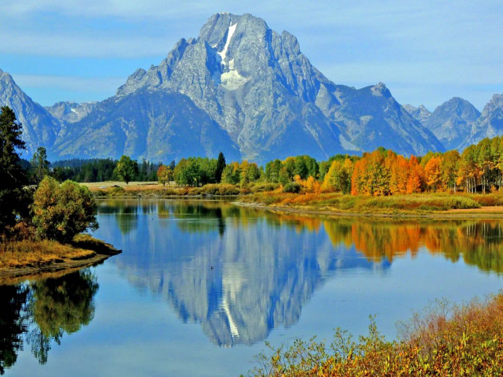 Fall Mountain Wallpaper Unterwegs Im Grand Teton National Park Wyoming