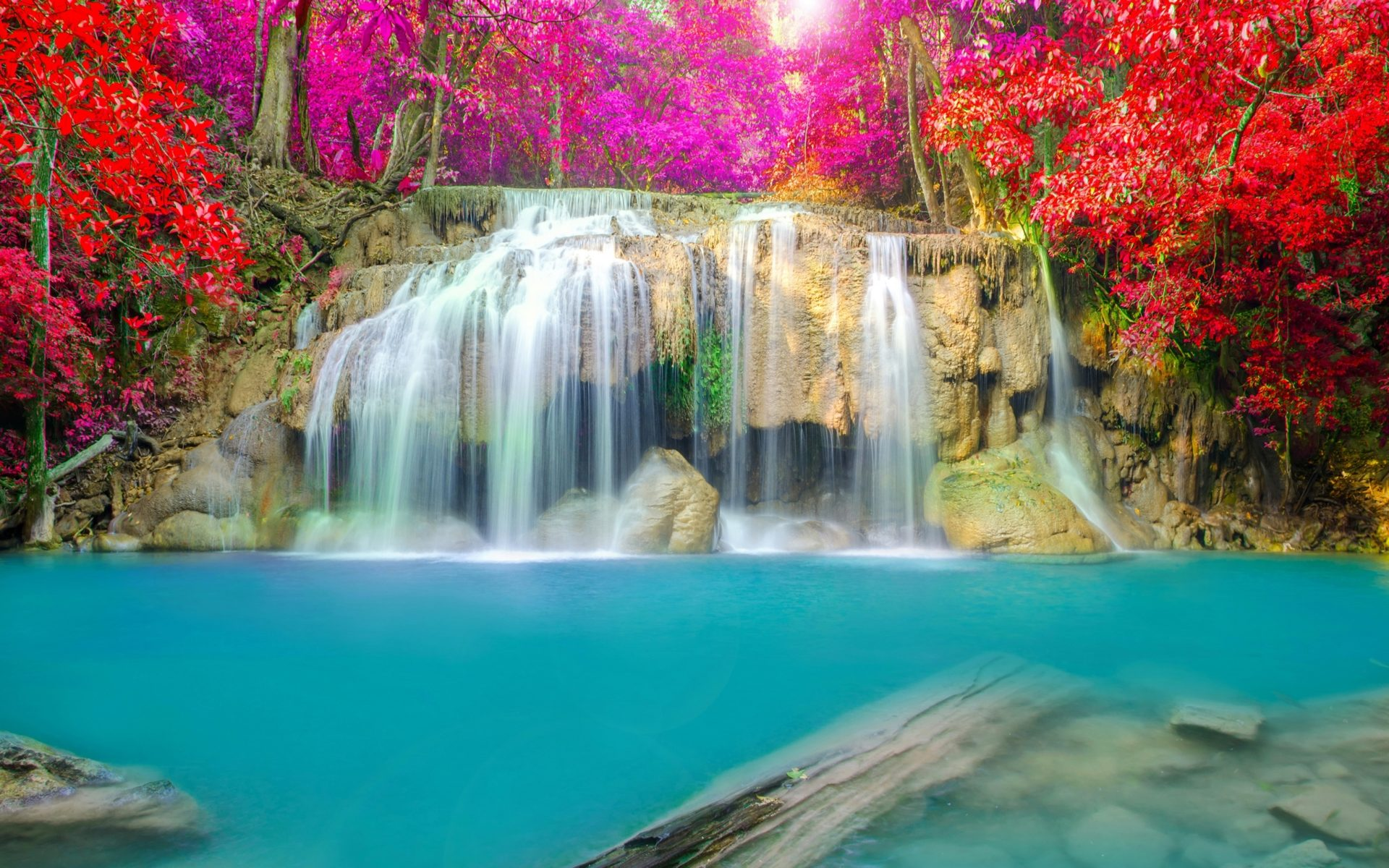 Free Fall Desktop Wallpaper Autumn Waterfalls Thailand Parks Nature 401710