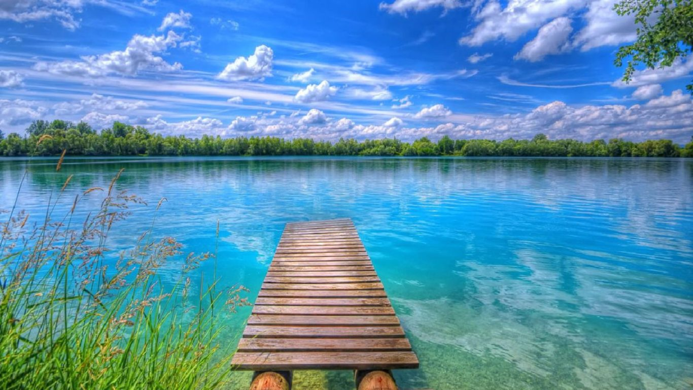 Free Download 3d Wallpaper For Android Tablet Background Beautiful Nature Lake Blue Sky With White