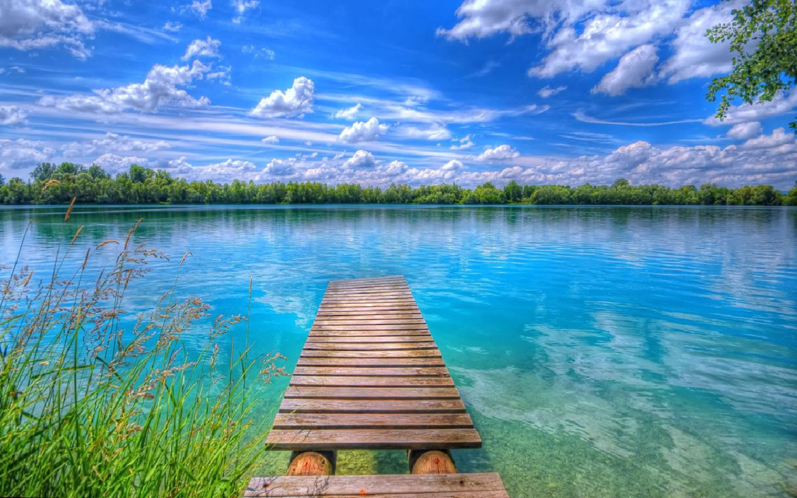 Hd Christmas Wallpapers 1080p Background Beautiful Nature Lake Blue Sky With White