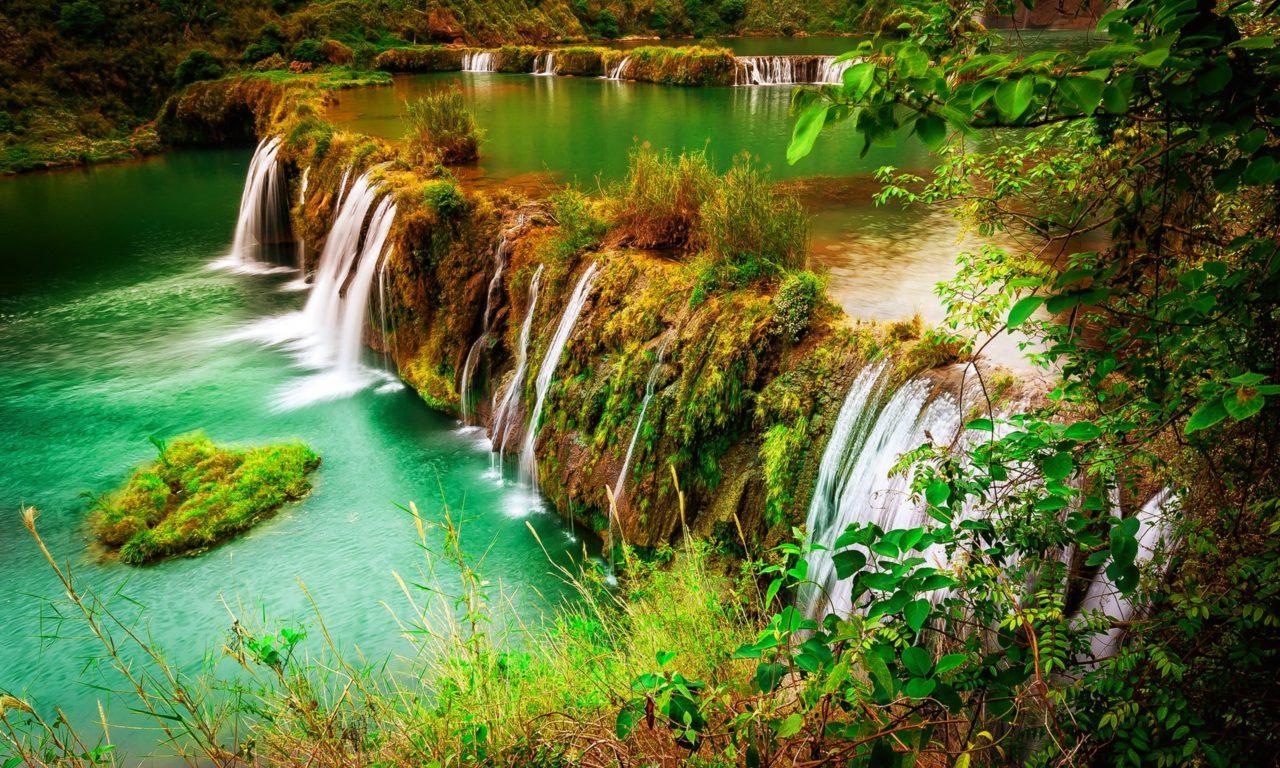 Niagara Water Falls Desktop Wallpaper Beautiful Waterfall Nature Autumn Beautiful Green Grass