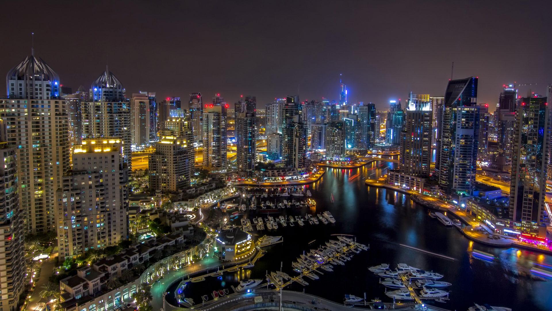 Emirates Wallpaper Hd Dubai Night Wallpaper Hd Buildings Skyscrapers Marina