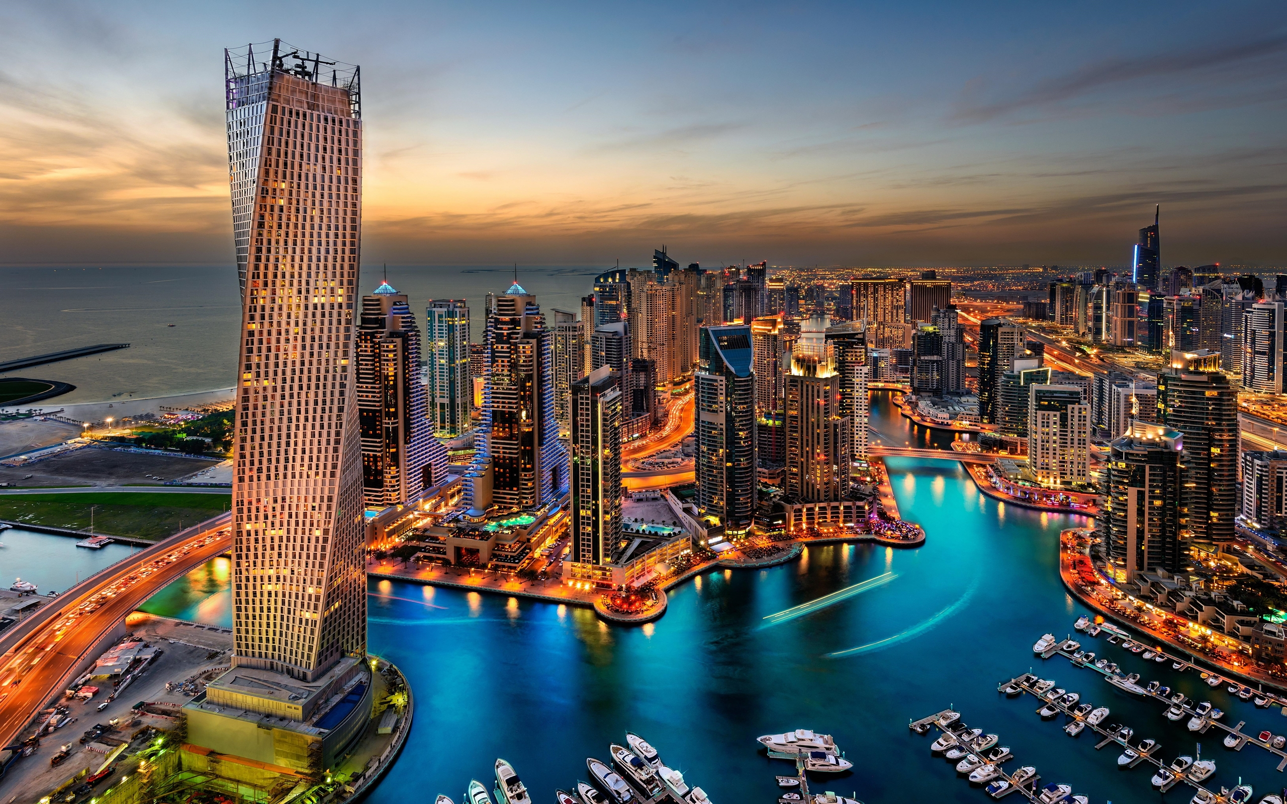 Usa Hd Wallpaper Download Dubai Uae Buildings Skyscrapers Night Hd Wallpaper 93494